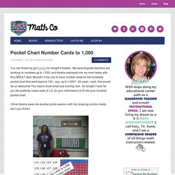 Pocket Chart Number Cards to 1,000 - Math Coach's Corner