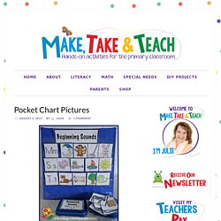 Pocket Chart Pictures - Make Take & Teach