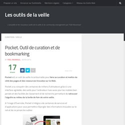 Pocket. Outil de curation et de bookmarking