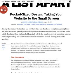 Pocket-Sized Design: Taking Your Website to the Small Screen