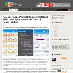 "Kalender-App ""Pocket Informant"" jetzt mit Slide Over, Split Screen, 3D Touch & neuem Widget"