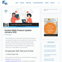 Pocket HRMS Product Update January 2021