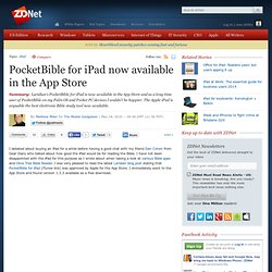 PocketBible for iPad now available in the App Store