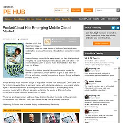 PocketCloud Hits Emerging Mobile Cloud Market