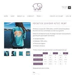 Pocketed Seafoam Aztec Print – Ivory Ella