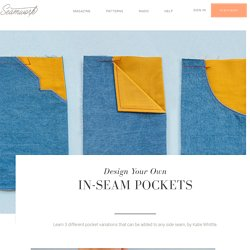 Design Your Own In-seam Pockets