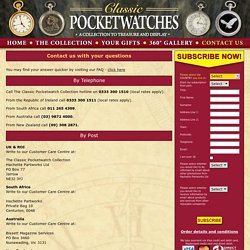 Classic Pocketwatches collection - Contact us via email, telephone or by post