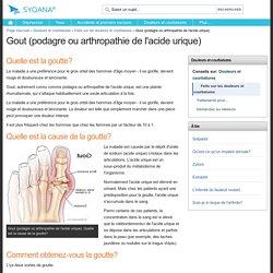 Podagre- arthropathie de l'acide urique