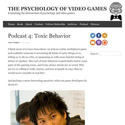 Podcast 4: Toxic Behavior