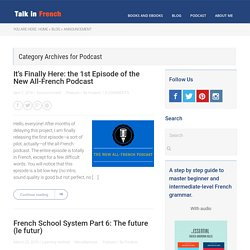 Podcast Archives - Talk in French