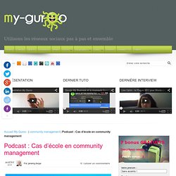 Podcast : Cas d'école en community management - My Guroo