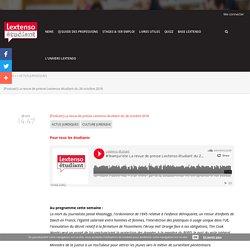 [Podcast] La revue de presse Lextenso étudiant du 26 octobre 2018