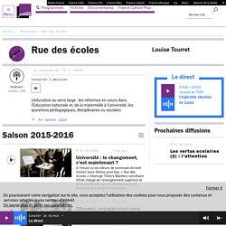 Rue des écoles : podcast et réécoute sur France Culture