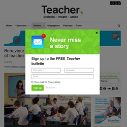 Podcast: Teacher praise and reprimands