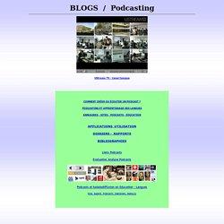 Podcasting Baladodiffusion Weblogs Education Langues, Social Media Podcast FLE