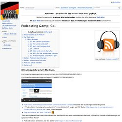 Podcasting & Co. – DSD-Wiki