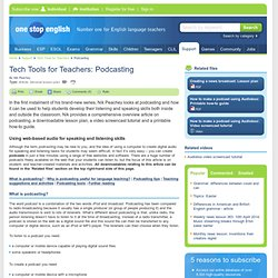 Tech Tools for Teachers: Podcasting