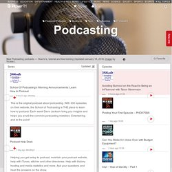 Best Podcasting Podcasts (2019)