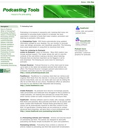 Podcasting Tools and Resource Article
