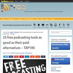 25 free podcasting tools as good as their paid alternatives