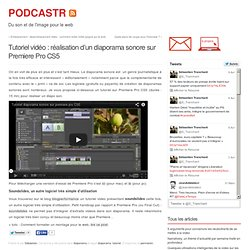 turotoriel diaporama Premiere Pro CS5
