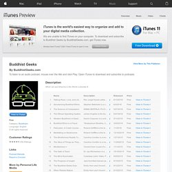 Buddhist Geeks - Download free podcast episodes by Personal Life Media on iTunes.