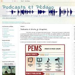 Podcasts et droits, je récapitule