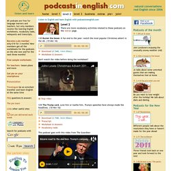 Listen to English and learn English with podcasts in English for intermediate English learners