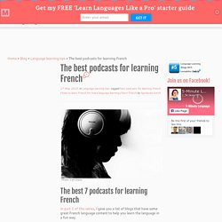 The best podcasts for learning French