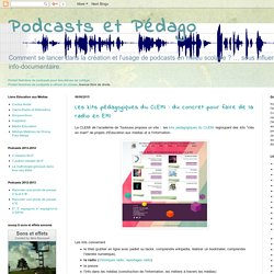 Podcasts et Pédago