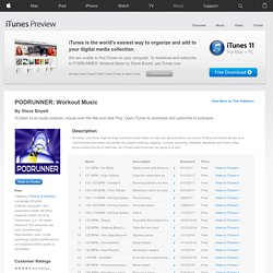 PODRUNNER: Workout Music - Download free podcast episodes by Wizzard Media on iTunes.