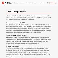 La FAQ des podcasts : vos questions, nos réponses sur le podcast