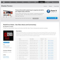 Podcasts - RebelForce Radio : Star Wars News and Commentary by RebelForce Radio