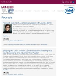 Podcasts - Lead On Watermark Silicon Valley Conference for Women