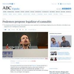 Podemos propone legalizar el cannabis