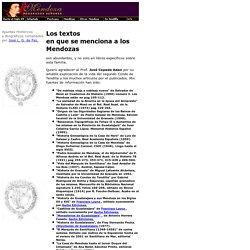 Los poderosos Mendoza: Bibliografía.
