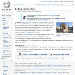 Podium (architecture)
