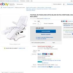 Fauteuil DE Podologie Artus Blanc EN Polyuréthane Hauteur 55 75cm MAX 200kg