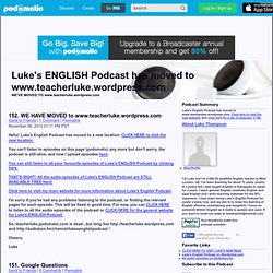 PodOmatic | Podcast - Luke's ENGLISH Podcast
