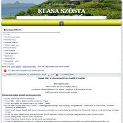 Szkoła Podstawowa im. Armii Krajowej w Olesznie - Plan pracy wychowawczej w klasie czwartej