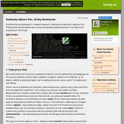 Podstawy edytora Vim, skróty klawiszowe — leniwy.eu