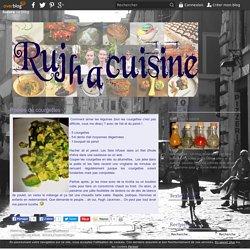 Poêlée de courgettes - Rujha cuisine
