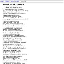 Shel Silverstein: Peanut-Butter Sandwich