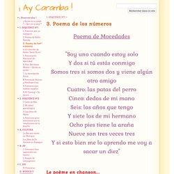 3. Poema de los números - ¡ Ay Caramba !