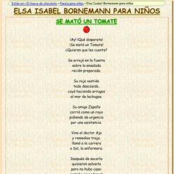 Poemas de Elsa Isabel Bornemann para niños
