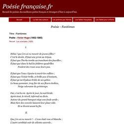 Poème Fantômes - Victor Hugo