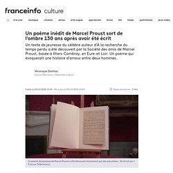 Un poème inédit de Marcel Proust sort de l'ombre 130 ans après avoir été écrit