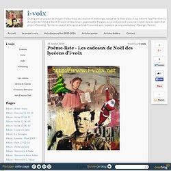 Poème-liste - Les cadeaux de Noël des lycéens d'i-voix