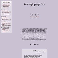 Alexandre Privat d'Anglemont Poèmes