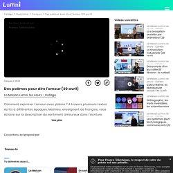 Des poèmes pour dire l'amour (30 avril) - Vidéo Français